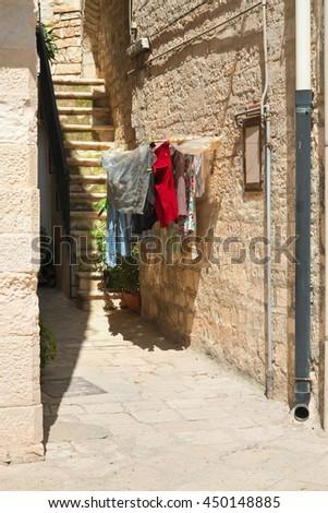 Alleyway. Giovinazzo. Puglia. Italy.  - stock photo