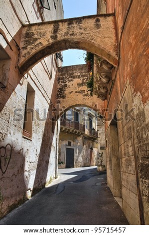Alleyway. Grottaglie. Puglia. Italy. - stock photo