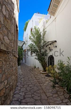 Alleyway in Marmaris, Turkey, Europe - stock photo