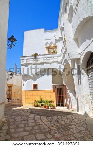 Alleyway. Laterza. Puglia. Italy.  - stock photo