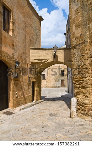 Alleyway. Mesagne. Puglia. Italy. - stock photo
