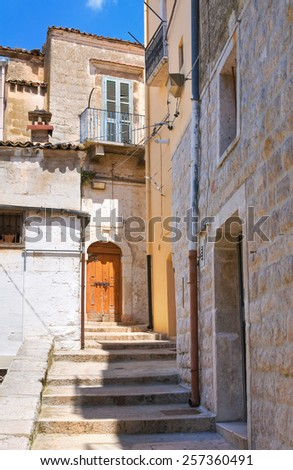 Alleyway. Minervino Murge. Puglia. Italy. - stock photo