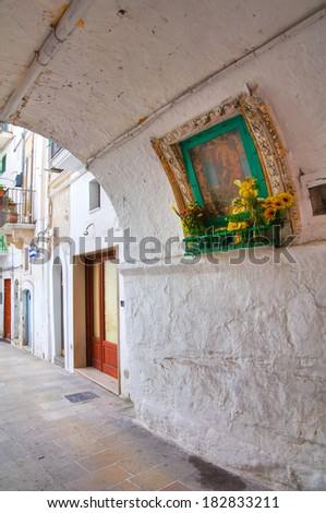 Alleyway. Monopoli. Puglia. Italy. - stock photo
