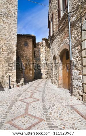 Alleyway. Narni. Umbria. Italy. - stock photo