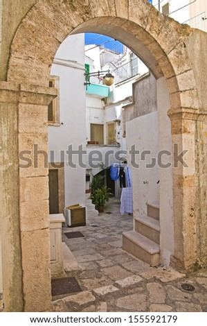 Alleyway. Noci. Puglia. Italy. - stock photo
