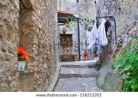 Alleyway. Oriolo. Calabria. Italy. - stock photo