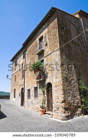 Alleyway. Orvieto. Umbria. Italy. - stock photo