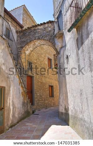 Alleyway. Roseto Valfortore. Puglia. Italy.  - stock photo