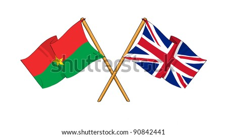 Alliance and friendship between Burkina Faso and United Kingdom - stock photo