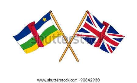 Alliance and friendship between Central African Republic and United Kingdom - stock photo