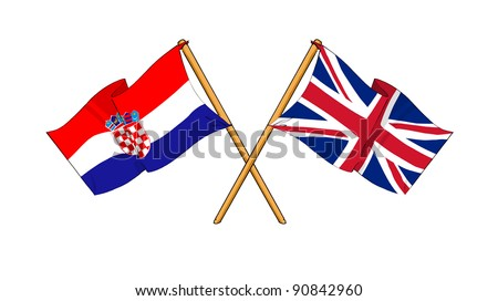 Alliance and friendship between Croatia and United Kingdom - stock photo