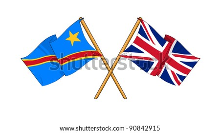 Alliance and friendship between Democratic Republic of the Congo and United Kingdom - stock photo