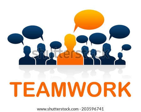 Alliance Team Showing Association Organized And Unit - stock photo
