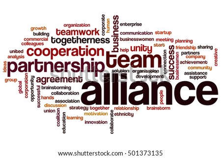 Alliance word cloud concept