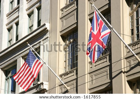 Allied Flags - stock photo