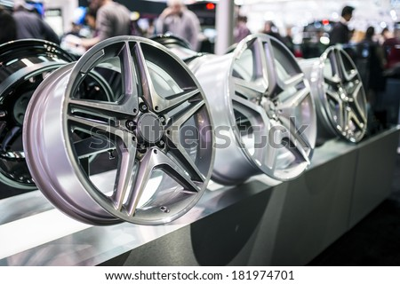 Alloy wheel rims.