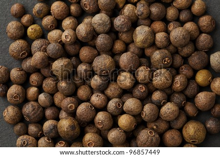 allspice background macro studio shot