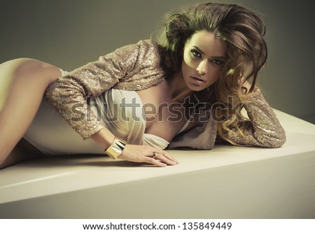 Alluring woman - stock photo