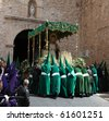 ALMAGRO, SPAIN - APRIL 10: Semana Santa - Holy Week, The traditional processions in the streets, April 10, 2009 in Almagro Spain - stock photo