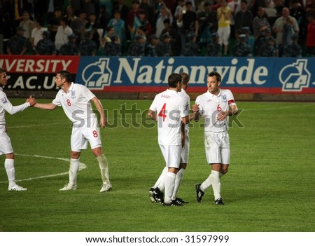 ALMATY - JUNE 6: Footballer Terry participates Kazakhstan v England, FIFA World Cup European Qualifying, Group Six, 6th June 2009 - stock photo