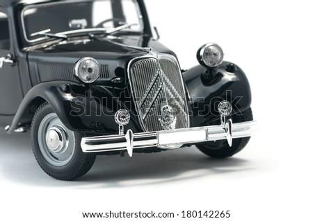 Almaty, Kazakhstan - March 4, 2014:Vintage collectible model cars Citroen 15 CV Cyl - stock photo