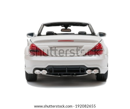 ALMATY, KAZAKHSTAN - May 10, 2014 - Collectible toy Mercedes-Benz SL 550 cabriolet isolated on white background - stock photo