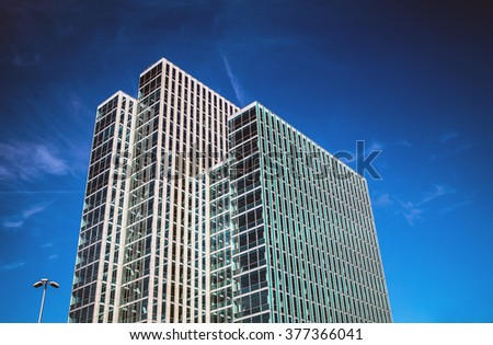 ALMERE - NETHERLANDS, OCTOBER 18, 2015: Architecture of modern city center on October 18, in Almere - Netherlands.
