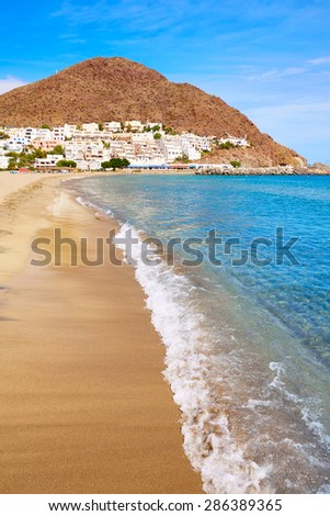 Almeria Cabo de Gata San Jose beach and village of Spain