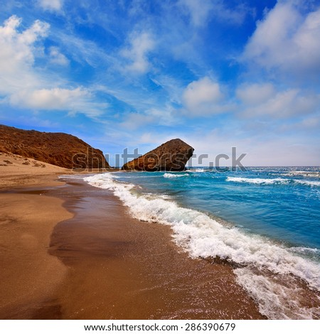 Almeria Playa del Monsul beach at Cabo de Gata in Spain