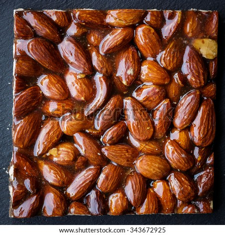 Almond brittle  - stock photo
