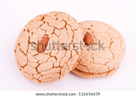 almond cookie - stock photo