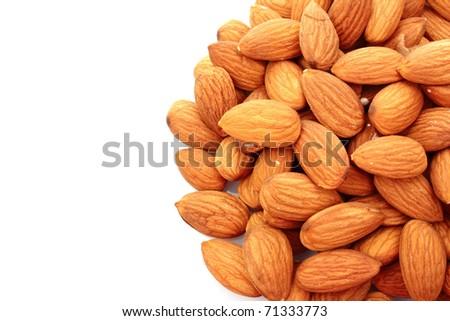 Almond isolated on white - stock photo