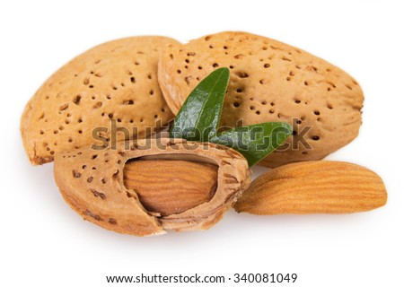 almond isolated on white background - stock photo