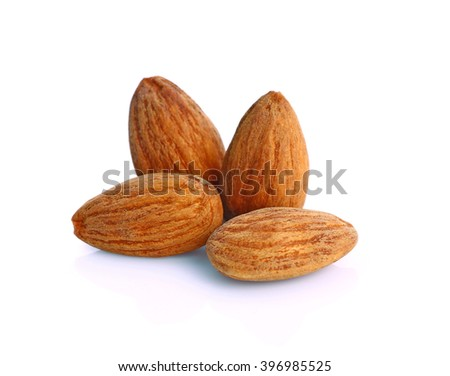 almond isolated on white background