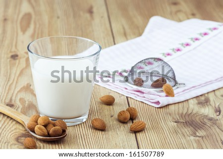 Almond Milk Arrangement - stock photo