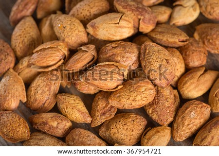 Almond with kernel. - stock photo