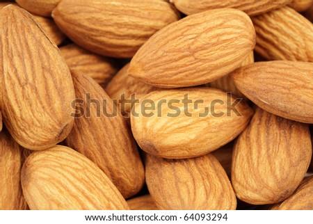 almonds - stock photo