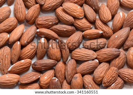 Almonds background macro - stock photo