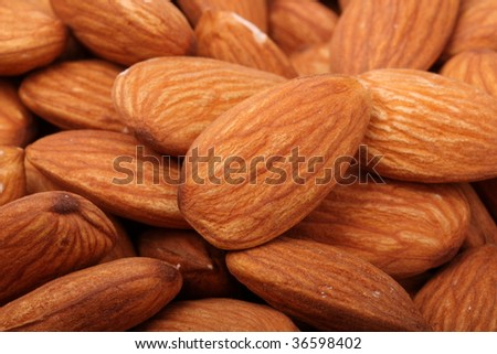 almonds close-up background