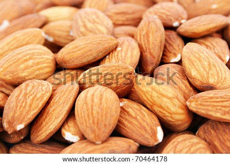 Almonds close up picture.