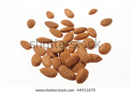 Almonds Energy Food from Nature - stock photo