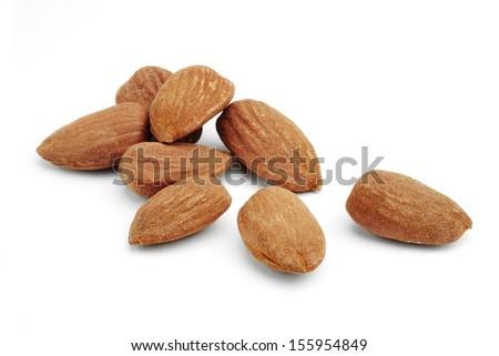 almonds isolated - stock photo