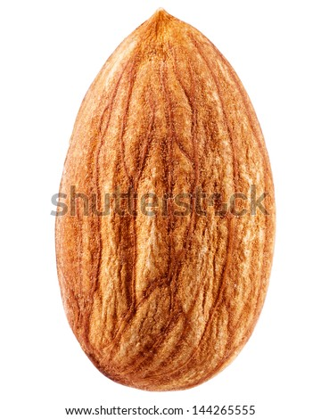 almonds isolated on a white background - stock photo