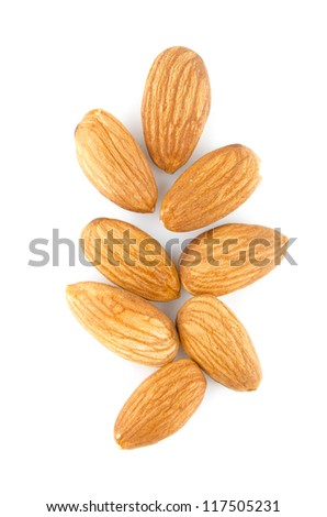 almonds isolated vertical