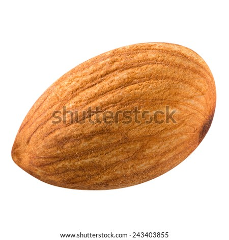almonds nuts isolated. Clipping Path - stock photo