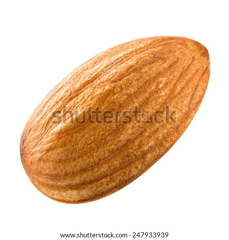 almonds nuts isolated Clipping Path  - stock photo