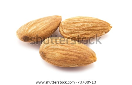 almonds on a white background.