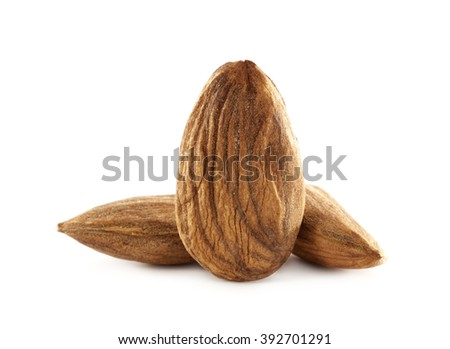 almonds photo on white space
