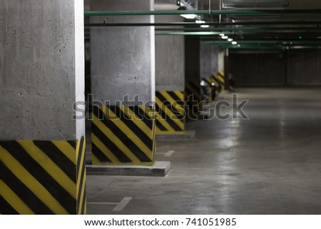 Parking garage stock images royalty free images vectors shutterstock - Loft houses with underground garage ...