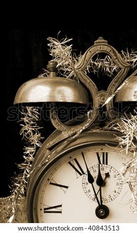 Almost midnight in sepia tone - stock photo